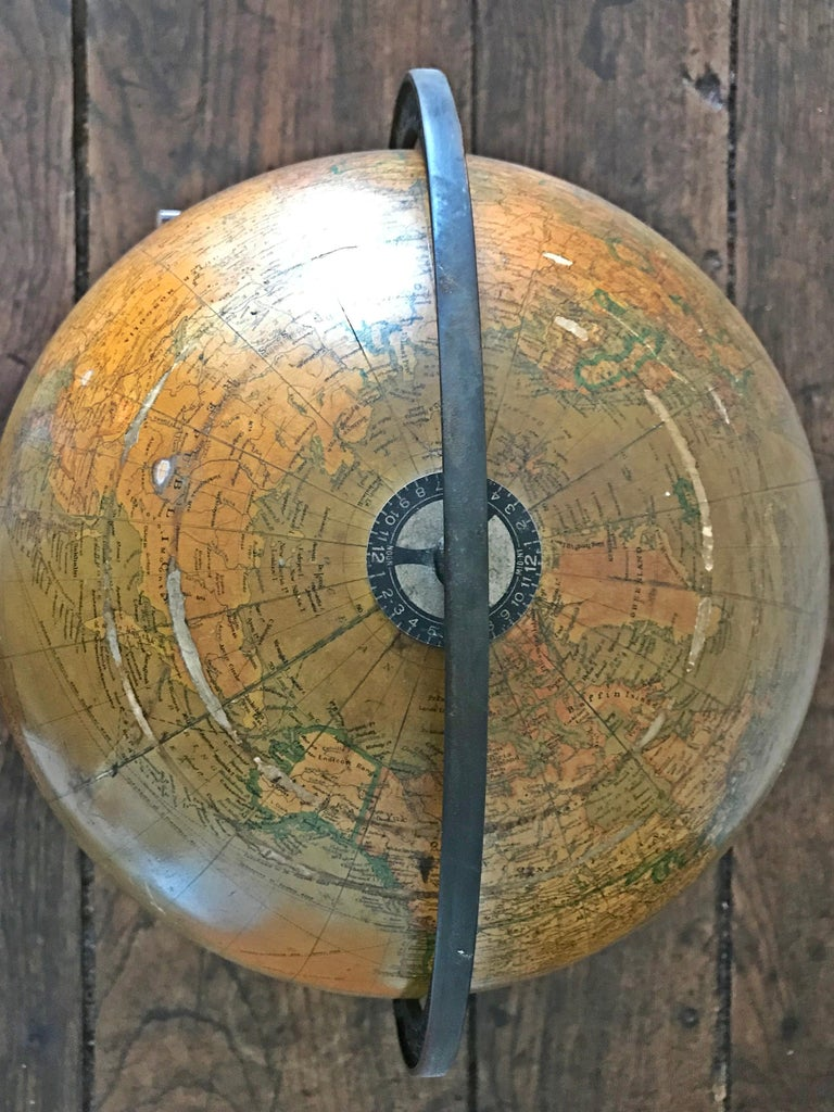 Other Replogle Library Globe Plus Replogle Illustrated Atlas, Late 1930s For Sale
