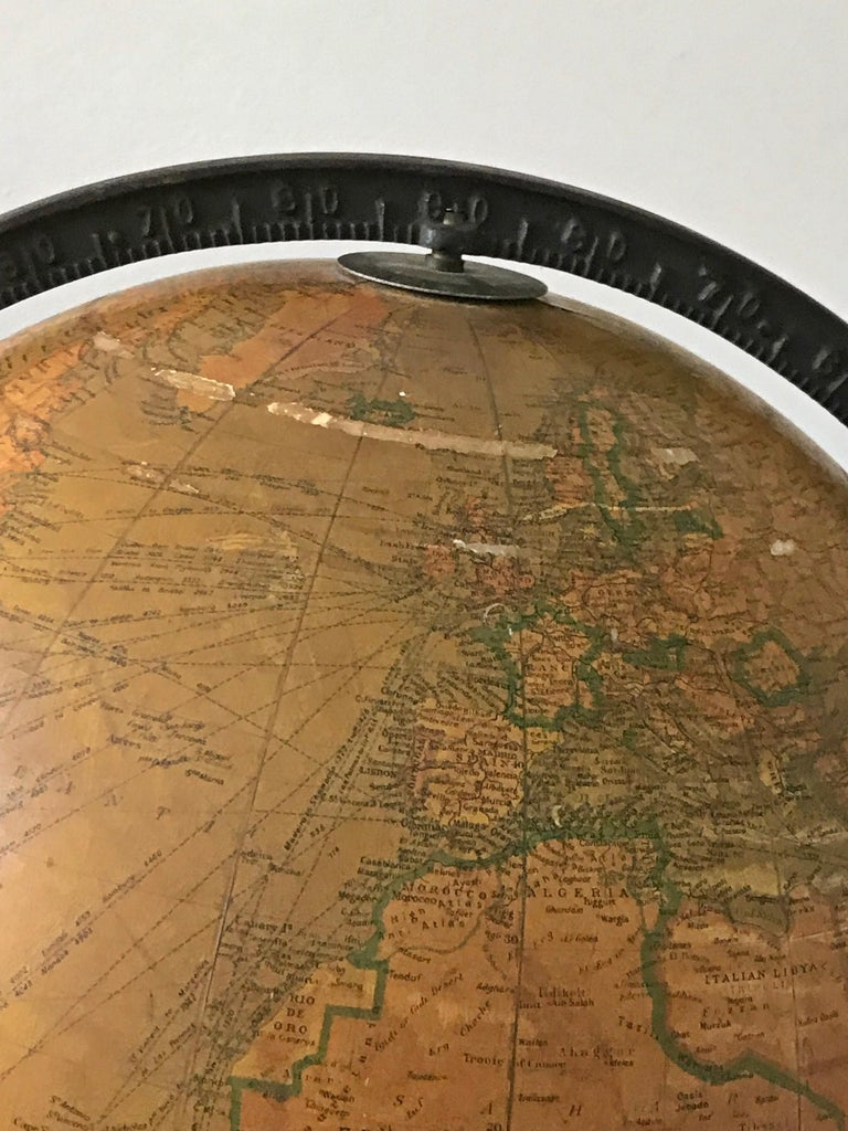 Replogle Library Globe Plus Replogle Illustrated Atlas, Late 1930s For Sale 1