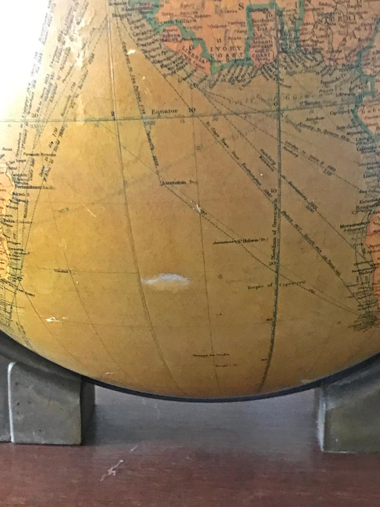 Replogle Library Globe Plus Replogle Illustrated Atlas, Late 1930s For Sale 2