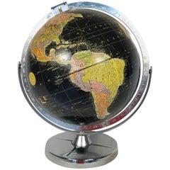 Replogle Desk Globe Midcentury Black with Chrome Base