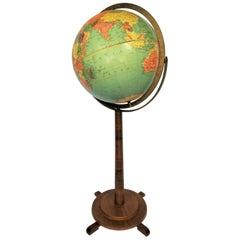 Replogle Globe Vintage Art Deco
