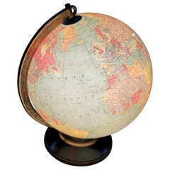 Replogle Illuminating Glass Library World Globe, circa 1960s