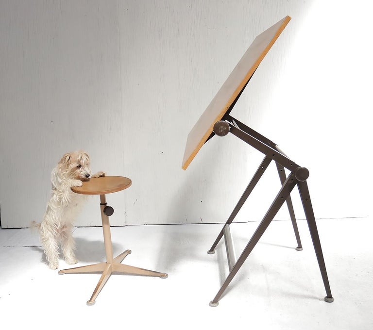 Reply Architect Drafting Table Friso Kramer, Wim Rietveld Ahrend Cirkel, 1959 For Sale 4