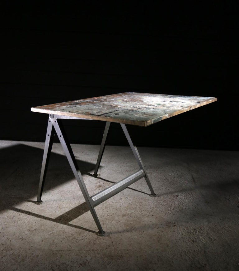 Reply Architect Drafting Table Friso Kramer, Wim Rietveld Ahrend Cirkel, 1959 In Good Condition For Sale In Boven Leeuwen, NL