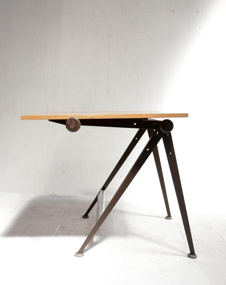 Steel Reply Architect Drafting Table Friso Kramer, Wim Rietveld Ahrend Cirkel, 1959 For Sale