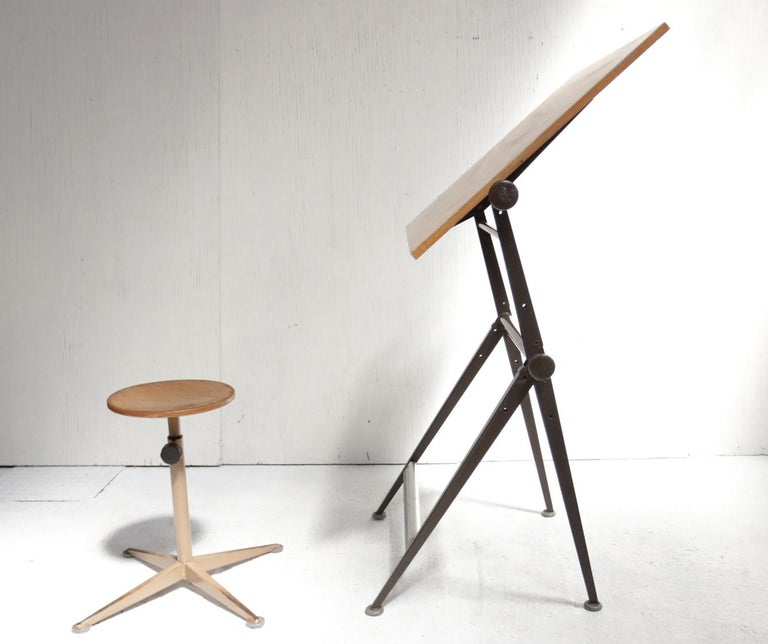 Reply Architect Drafting Table Friso Kramer, Wim Rietveld Ahrend Cirkel, 1959 For Sale 2