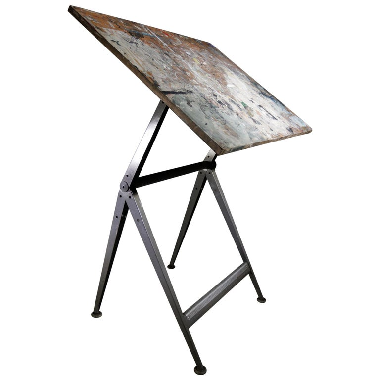 Reply Architect Drafting Table Friso Kramer, Wim Rietveld Ahrend Cirkel, 1959 For Sale