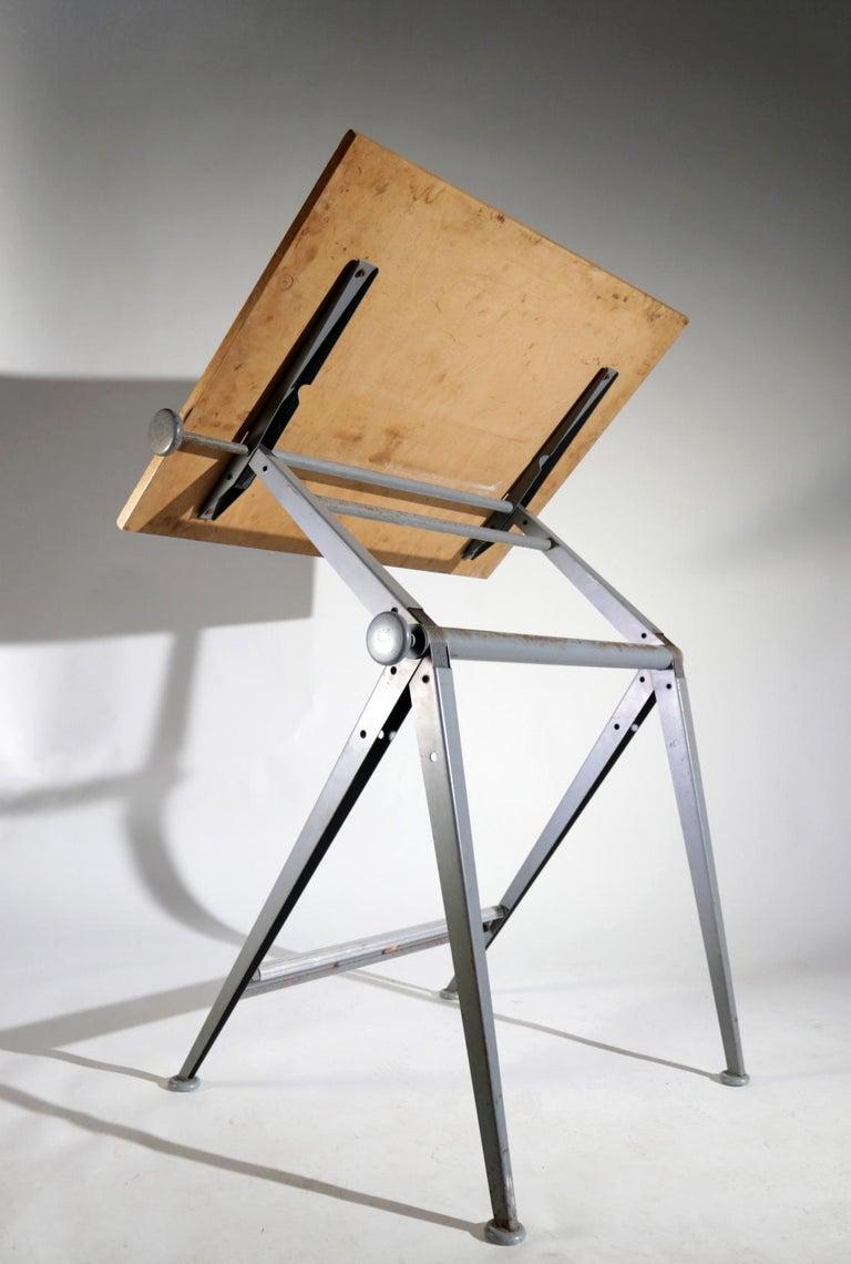 Dutch Reply Architect Drawing Table Friso Kramer, Wim Rietveld Ahrend de Cirkel, 1959 For Sale