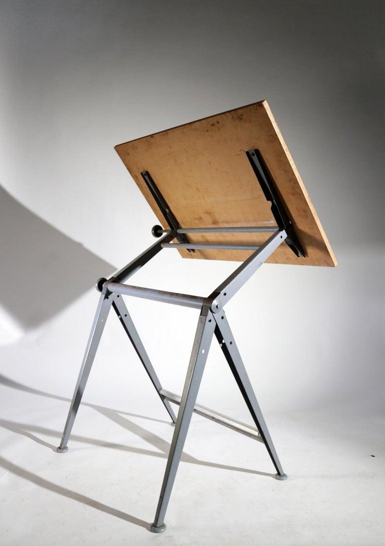 Steel Reply Architect Drawing Table Friso Kramer, Wim Rietveld Ahrend de Cirkel, 1959 For Sale