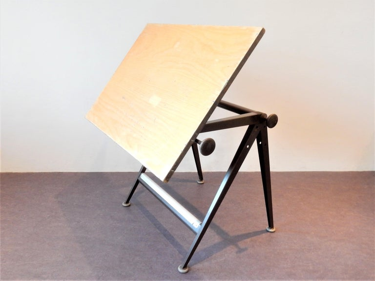Metal 'Reply' Drafting Table by Friso Kramer and Wim Rietveld for Ahrend, 5 Available For Sale