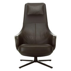 Repos and Ottoman Leather Lounge Chair, by Antonio Citterio from Vitra