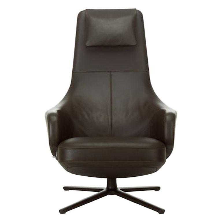 Repos and Ottoman Leather Lounge Chair, by Antonio Citterio from Vitra For Sale