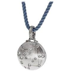 Repossi Astrum Diamond 18 Karat White Gold Libra Pendant Necklace 44cm
