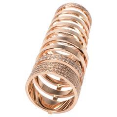Repossi Berbere Diamond Ring in 18 Karat Rose Gold 1.60 Carat