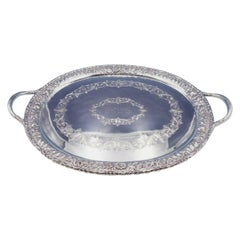 Repousse by Kirk Sterling Silver Tea Tray Heavy 125.5 ozt. #124AF