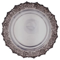 Repousse by Kirk Sterling Silver Tray Round #2544