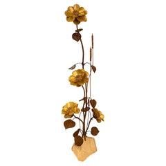 Repoussé Metal Floral Decoration