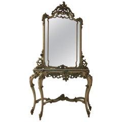 Representative Console with a Mirror, Venetian Neorococo, after 1900