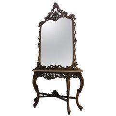 Representative Console with a Mirror, Neorococo