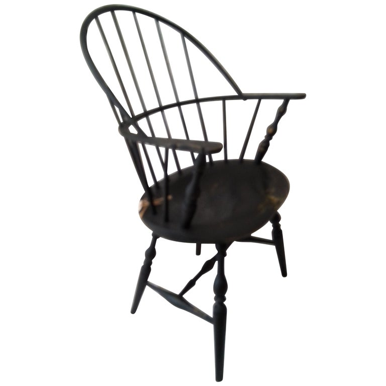reproduction black windsor chair for sale at 1stdibs. Black Bedroom Furniture Sets. Home Design Ideas
