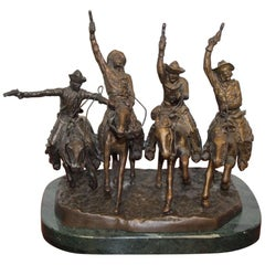 Reproduction Coming Thru the Rye Solid Bronze Sculpture
