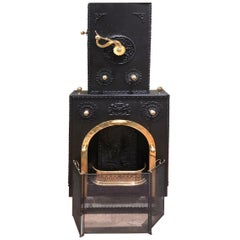 Reproduction English Coal Stove/Fireplace circa 1640, Contemporary Gas Fired