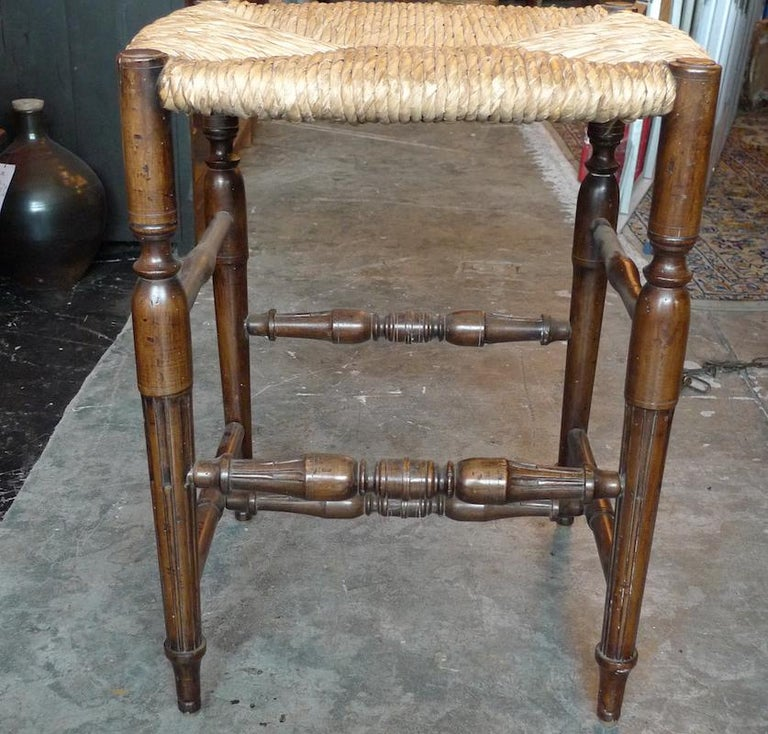 Super Reproduction French Louis Xvi Style Bar Stool With Rush Seat And No Back Uwap Interior Chair Design Uwaporg
