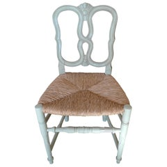 Reproduction Louis XVI Dining-Chair with Large Rush Seat