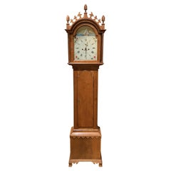 Reproduction of a Thomas Jackson, CT Tiger Maple Tall Clock by William G Towne