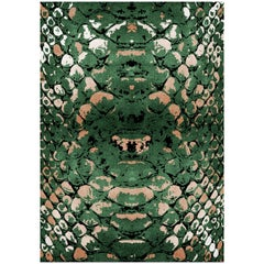 Reptilus Rug in Hand-Tufted Wool and Botanical Silk by Rug'Society