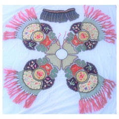 Republic Period Chinese Embroidery Collar with Tassels, Very Good Condition