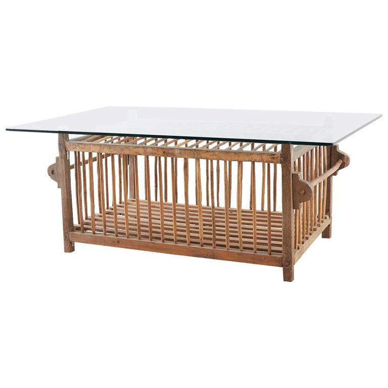 Amazing Repurposed Wooden Bird Crate Coffee Cocktail Table Uwap Interior Chair Design Uwaporg