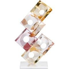 Resin and Lucite Sculpture by Eric Bauer