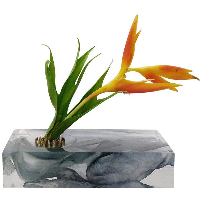Resin Cast Vase Sculpture Limited Edition with Kaarem, 1st Dibs New York For Sale