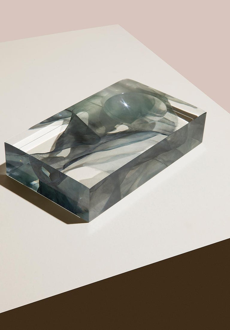 North American Resin Cast Vase Sculpture Limited Edition with Kaarem, 1st Dibs New York For Sale