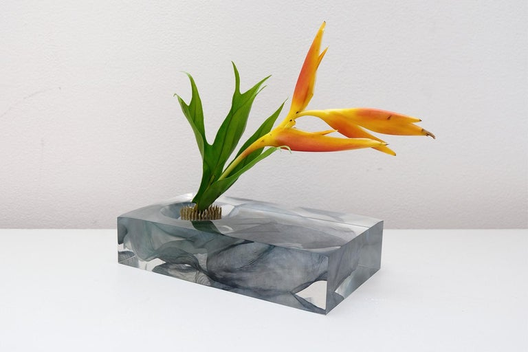 Resin Cast Vase Sculpture Limited Edition with Kaarem, 1st Dibs New York In New Condition For Sale In Brooklyn, NY