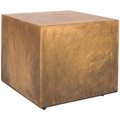 Resin Cube Side Table on Castors