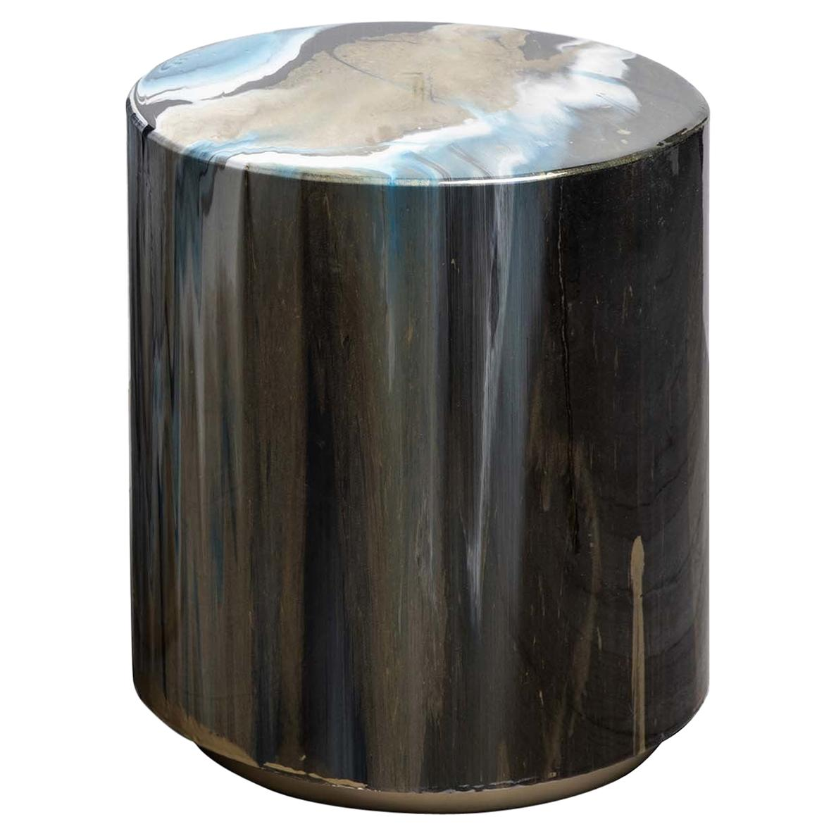 Resin Drip Side Table #1
