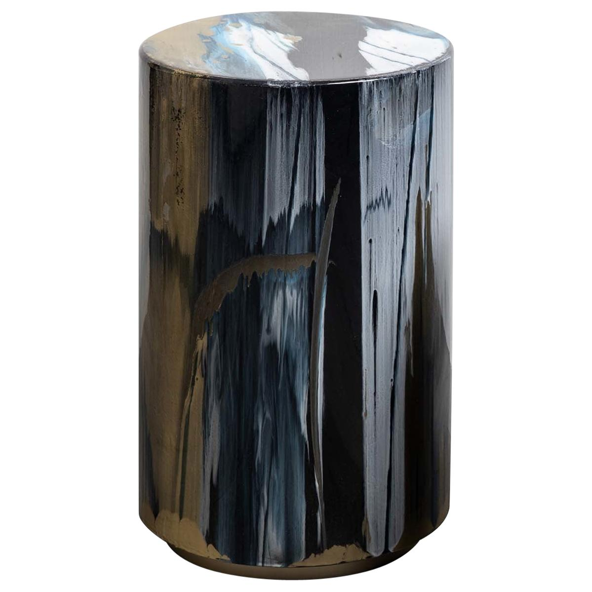 Resin Drip Side Table #2
