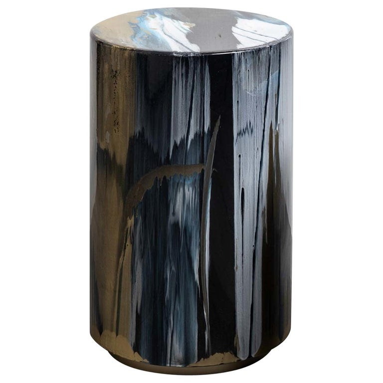 Resin Drip Side Table #2 For Sale