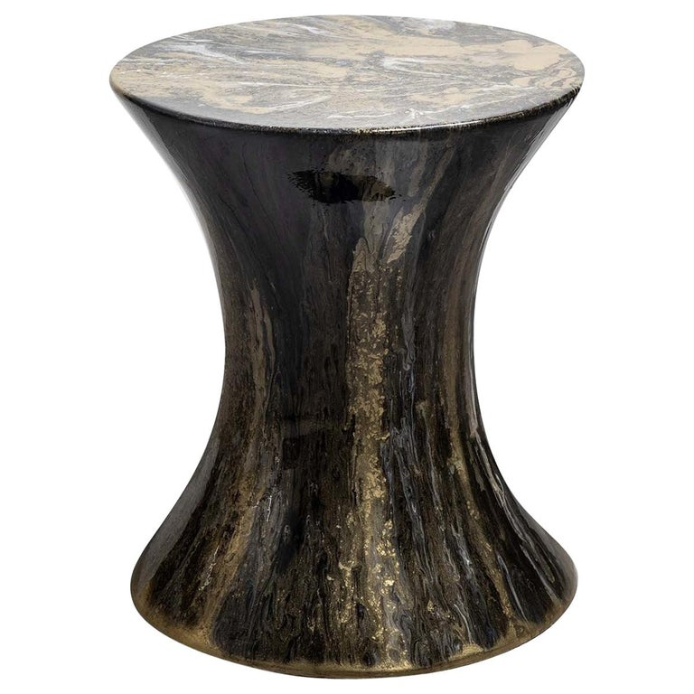 Resin Drip Side Table #5 For Sale