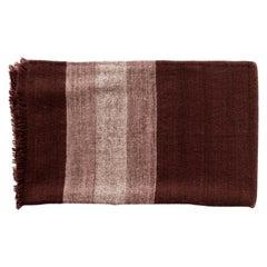 Resin Plush Handloom King Size Bedspread in Warm Resin Red in Herringbone Weave