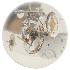 Resin Lucite Sphere with Exploded Watch Parts