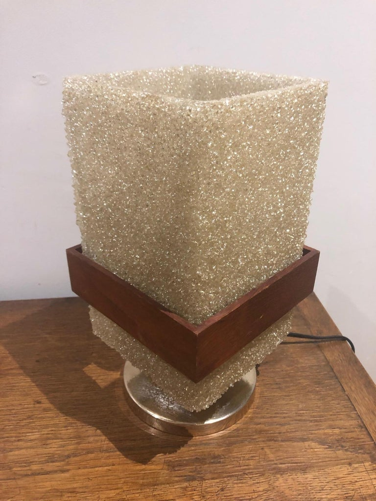 Golden metal base with original resin shade from the 1960s.