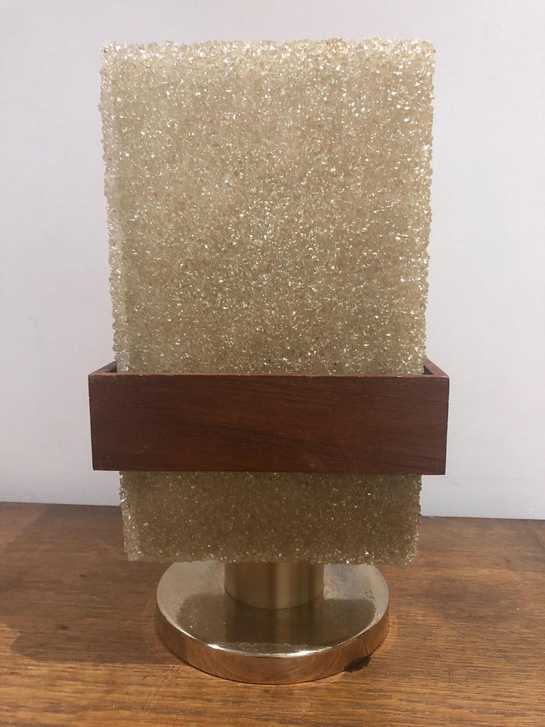 Mid-Century Modern Resin Table Lamp For Sale