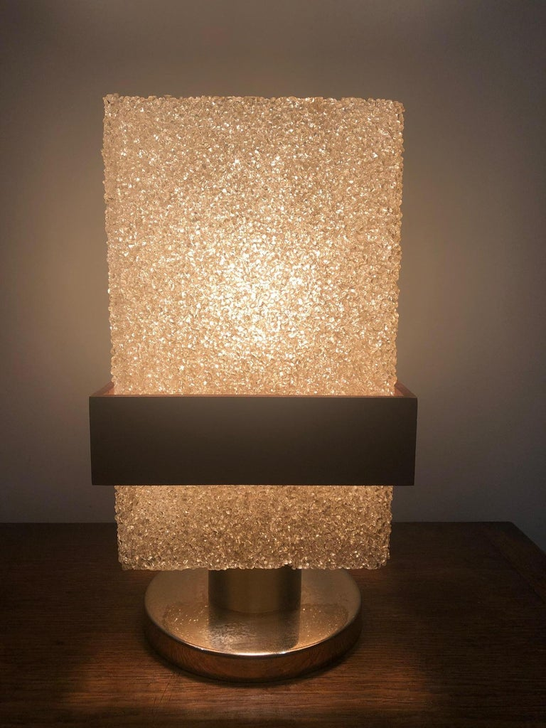 French Resin Table Lamp For Sale