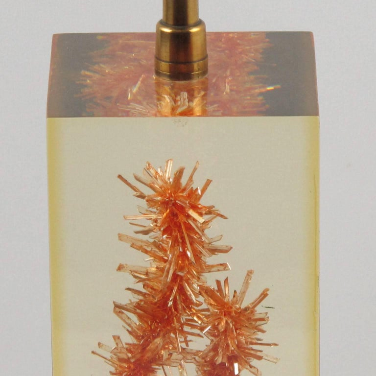 Pierre Giraudon Resin Table Lamp with Faux Coral Inclusion In Excellent Condition For Sale In Atlanta, GA
