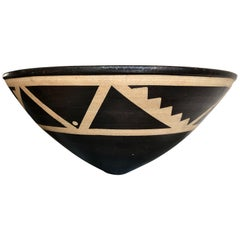 Resist Decorated Stoneware Bowl by Jason Wason