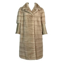 Resort 2012 Christian Dior 60's MOD Blonde Mink Fur & Real Crocodile Coat