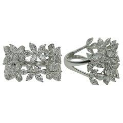 Resplendent 18 Karat White Gold and Diamond Rings